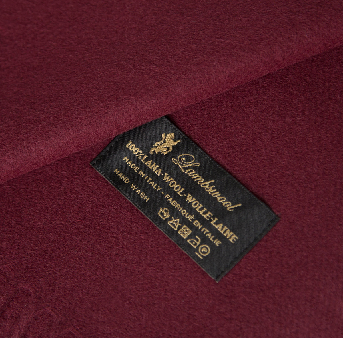 Wool Scarf Burgundy - Unrecorded