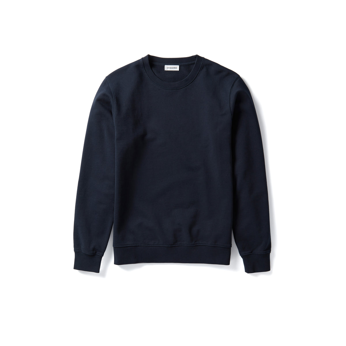 Sweater in Navy made from organic cotton - Alternate