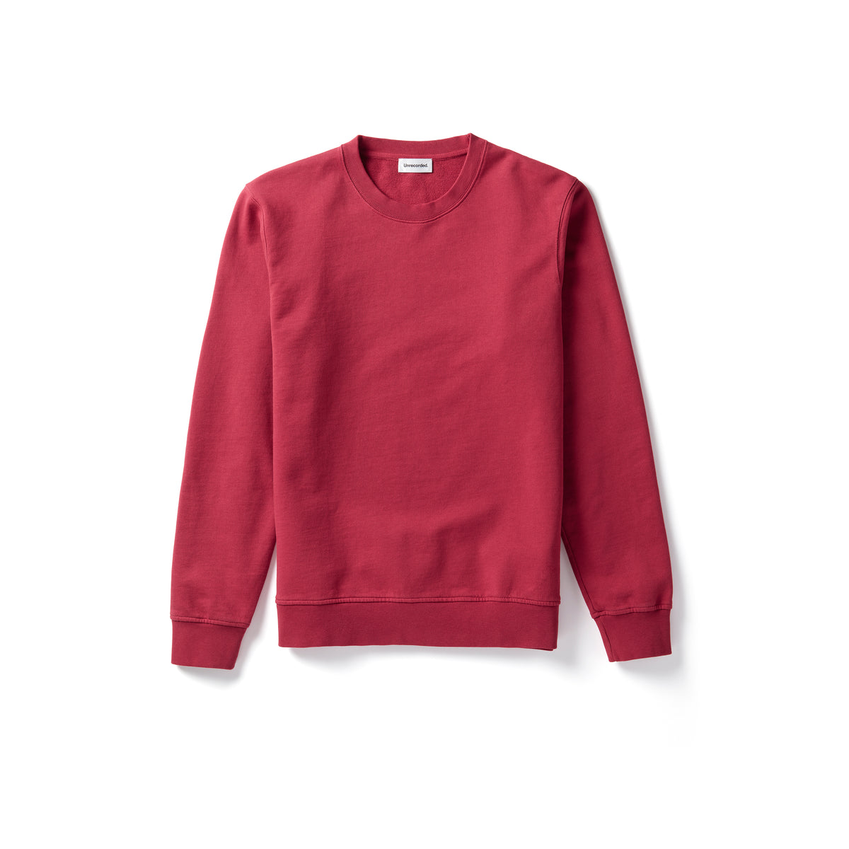 Sweater in Red made from organic cotton - Alternate