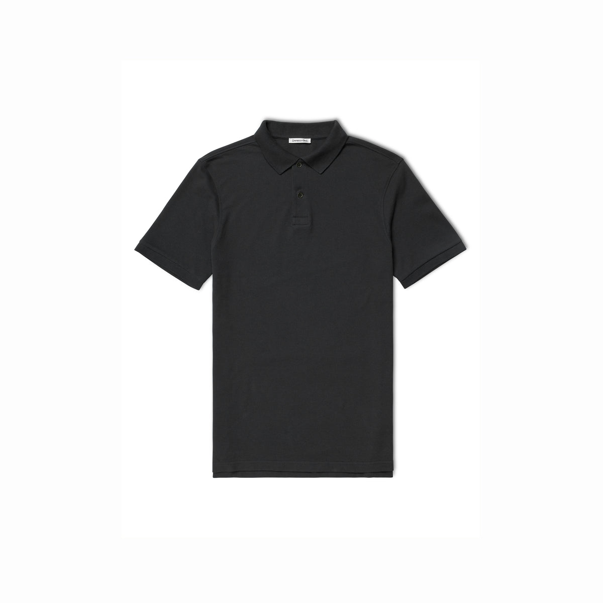 Pique Polo in Black made from organic cotton - Alternate
