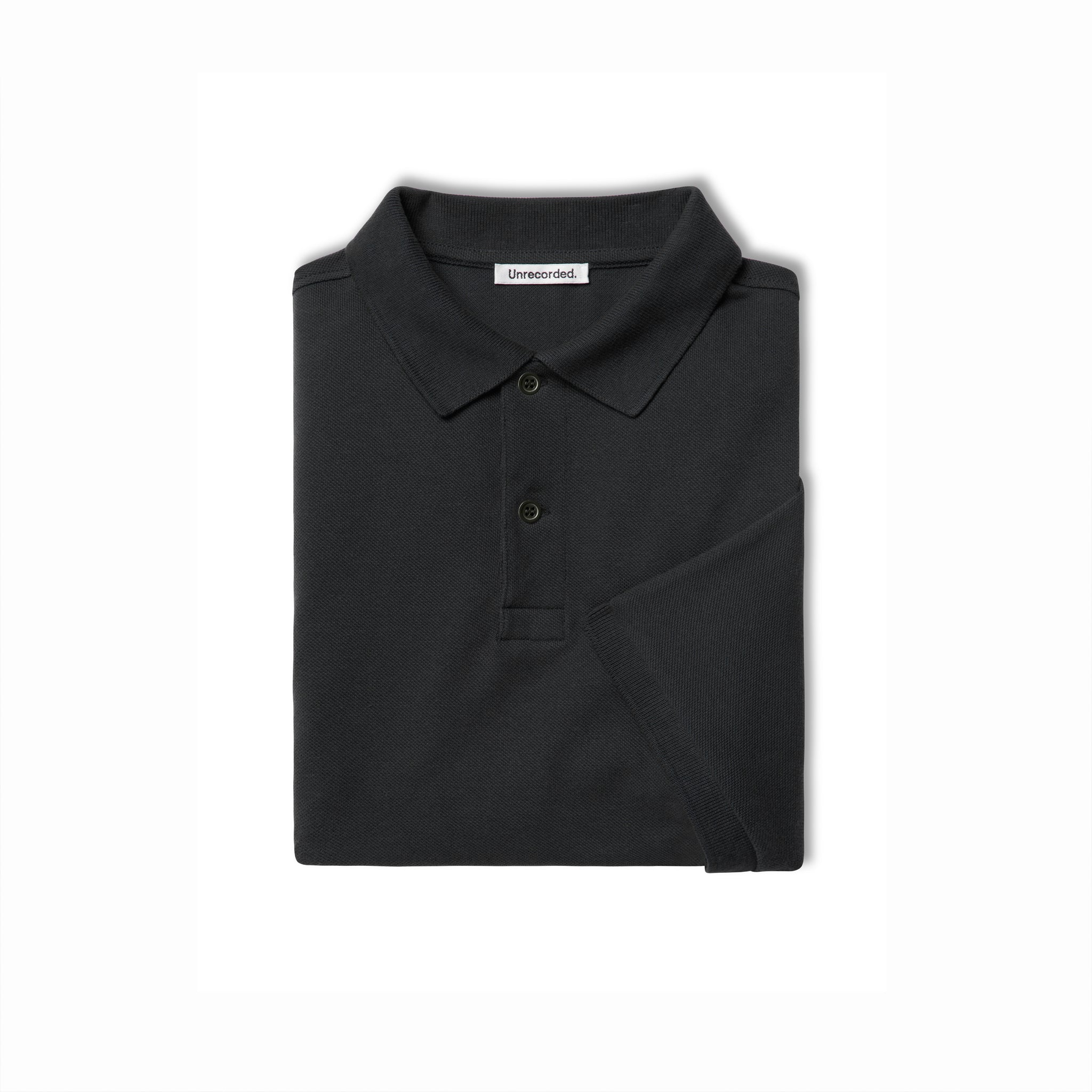 Pique Polo in Black made from organic cotton