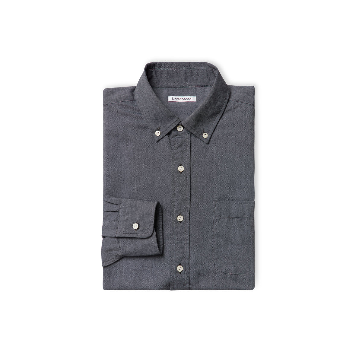 Oxford Shirt in Charcoal made from Organic Cotton