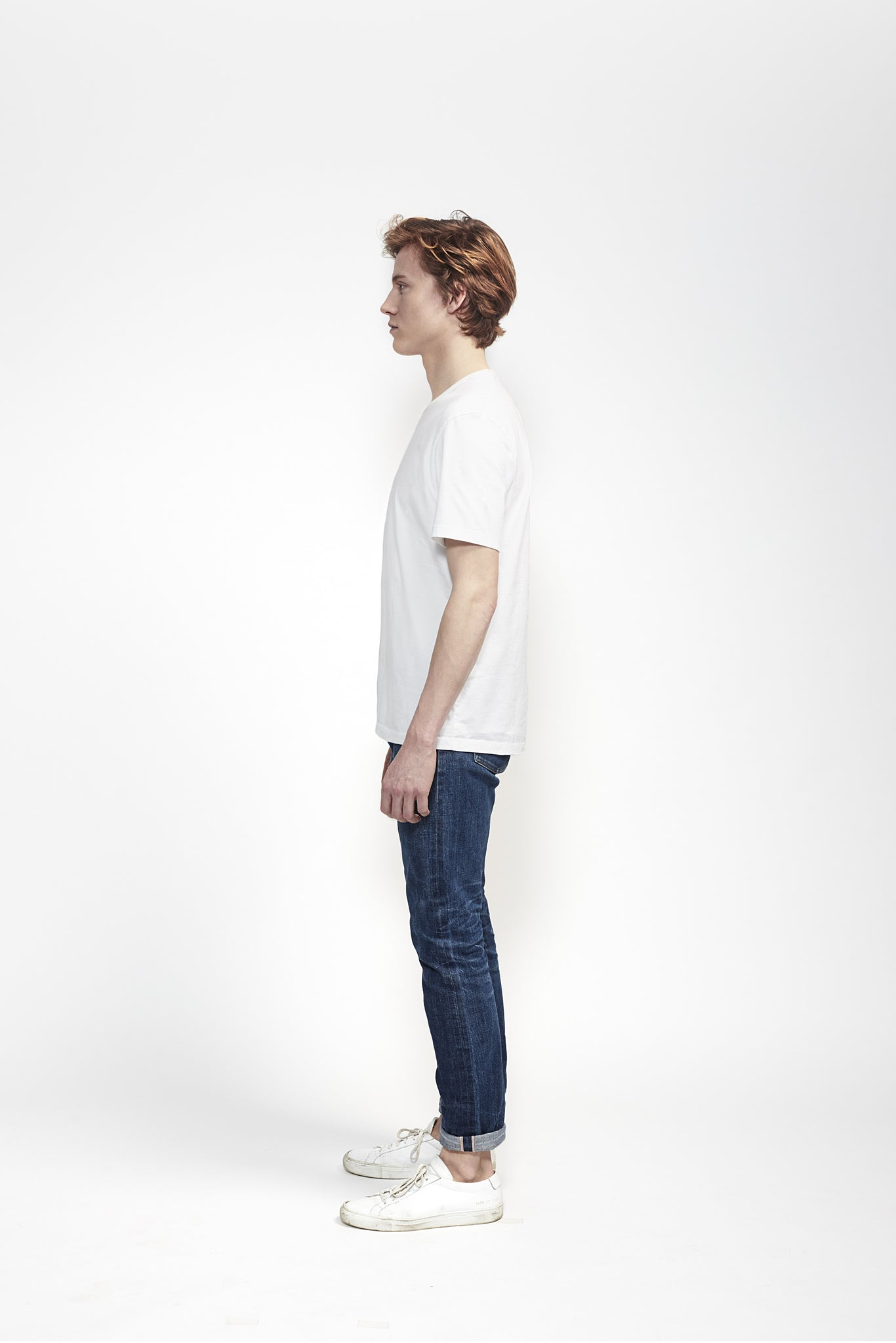 T-Shirt 180 GSM in White made from organic cotton - Men