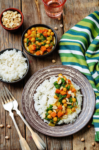 Slow Cooker Goan Sweet Potato and Chickpea Curry
