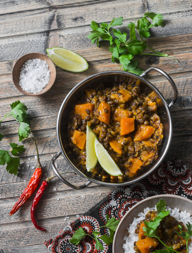 Tandoori Masala Vegetable and Lentil Curry with Coconut Milk