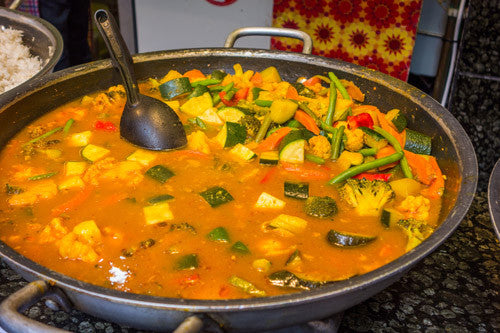 Vegetable Korma Curry - using leftovers!