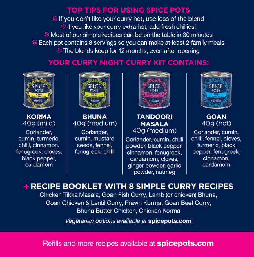Spice Pots - a great curry paste alternative