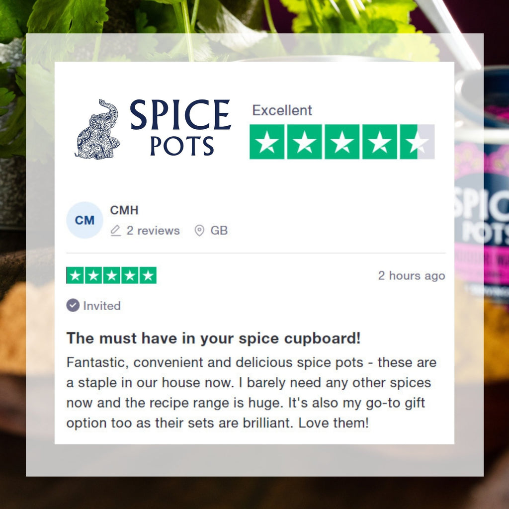 Spice Pots rated Excellent on Trustpilot