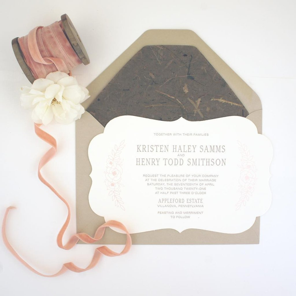 Die Cut Stationery In The Details