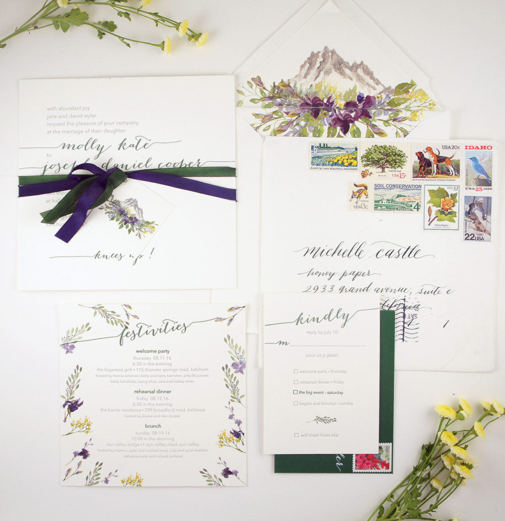 Beautiful Mountain Wedding Invitations