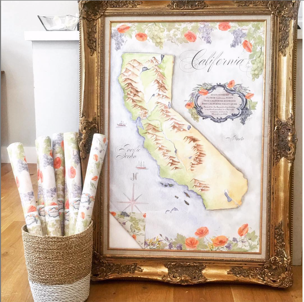 Hand Illustrated Watercolor Maps
