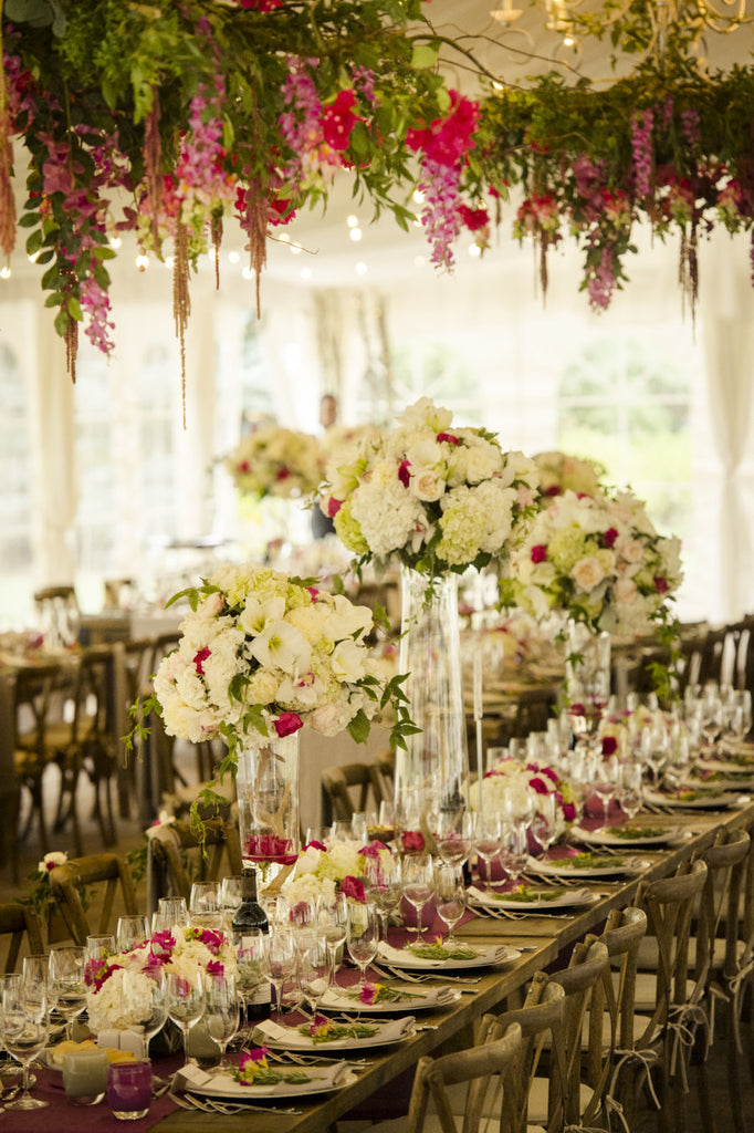 sun valley Idaho wedding reception florals