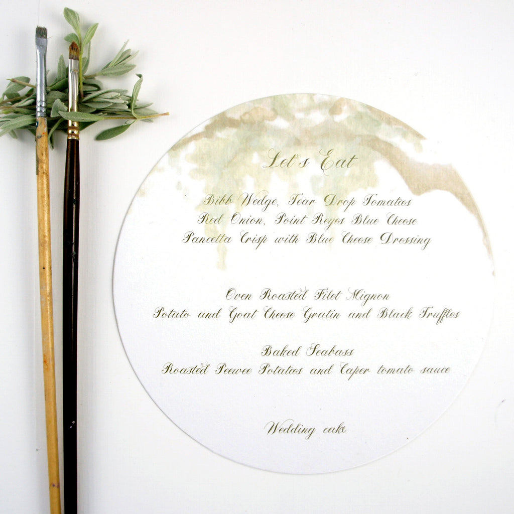custom hand painted watercolor for rustic barn wedding