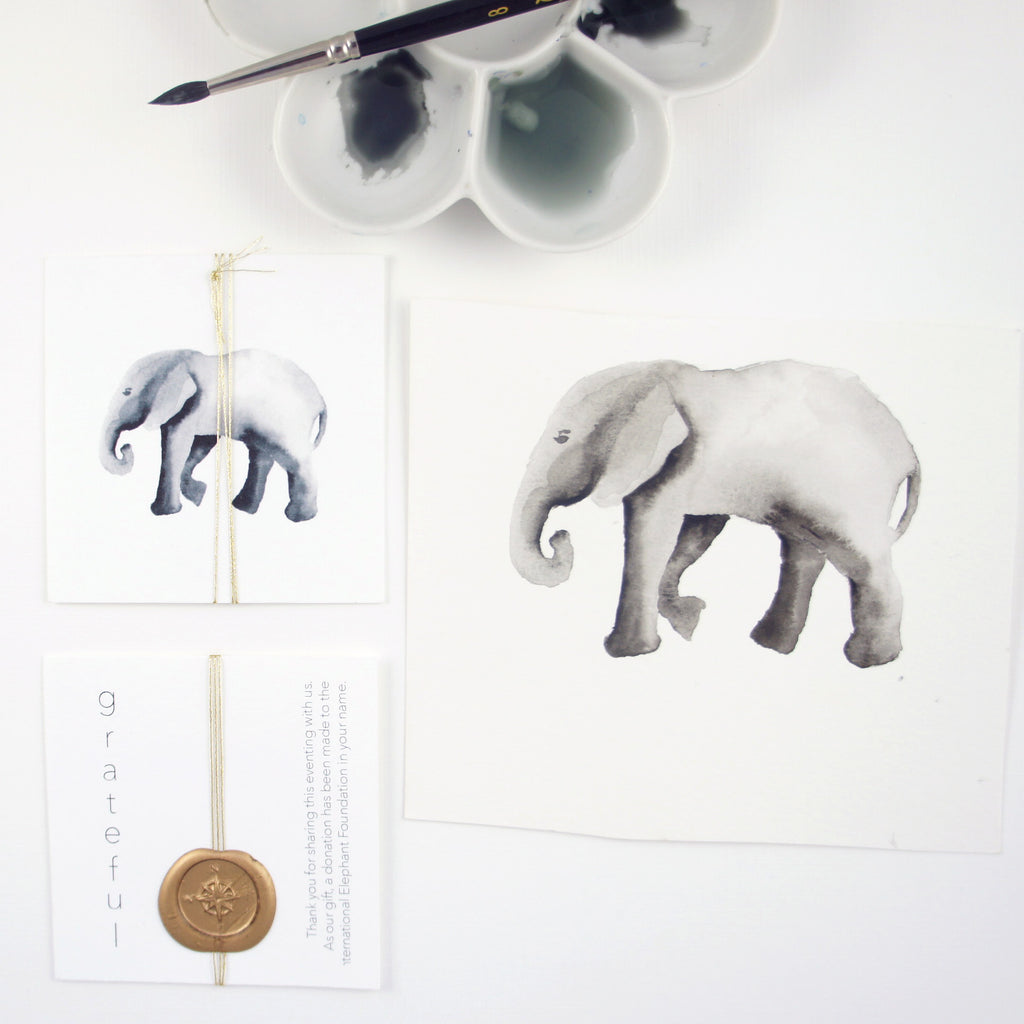 elephant illustration by Honey Paper