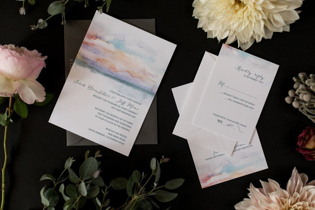 stationery suite for Santa Barbara wedding