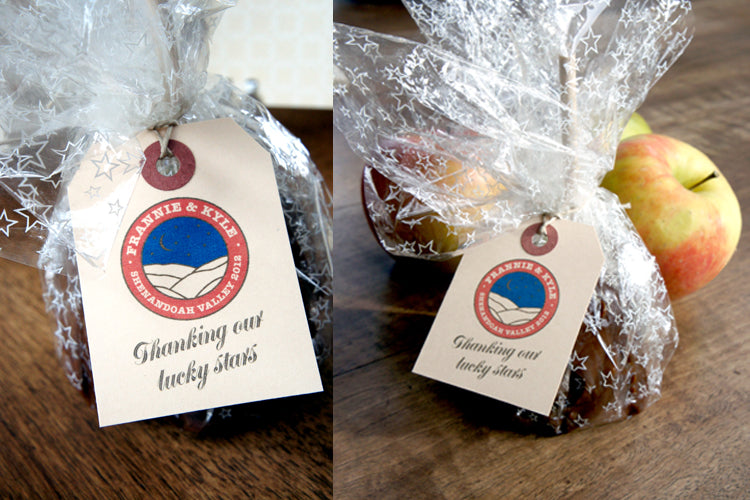 Shenandoah Valley wedding Apple Favor bags