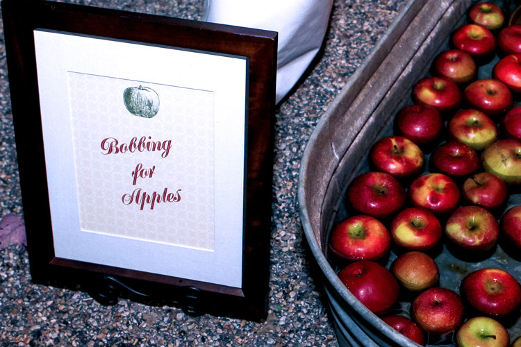 Shenandoah valley wedding Bobbing for apples