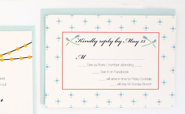 Custom Wedding RSVP