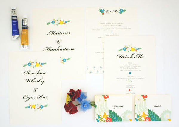 Day of Details Custom Wedding Paper