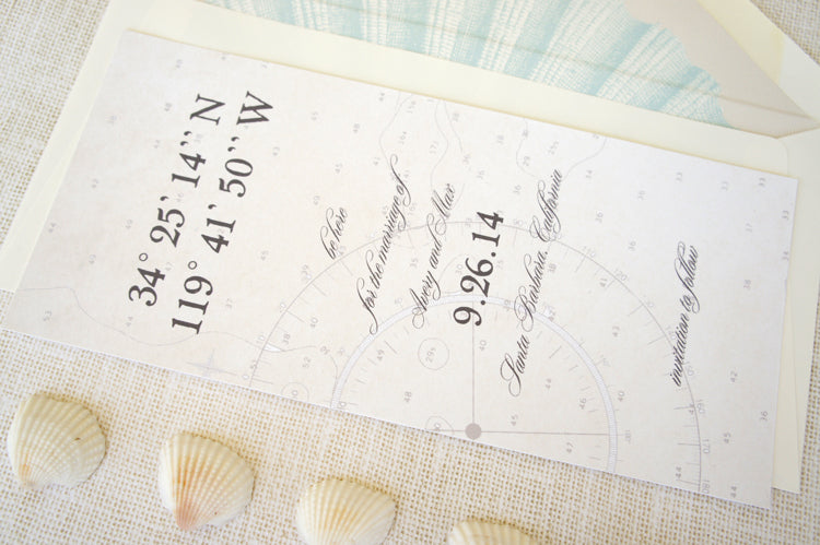 Nautical Save the Date | Stationery by Honey Paper | Turquoise