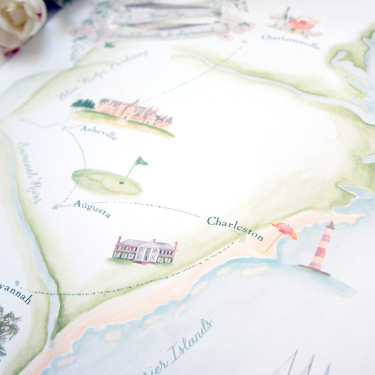 watercolor map details
