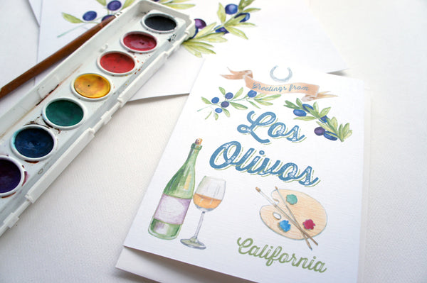 Los Olivos Greeting Card