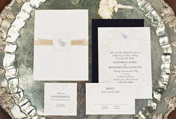 Santa Barbara Club Wedding | Custom Invitations @honeypaper