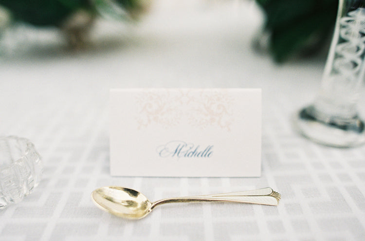 Santa Barbara Custom Wedding Place Cards