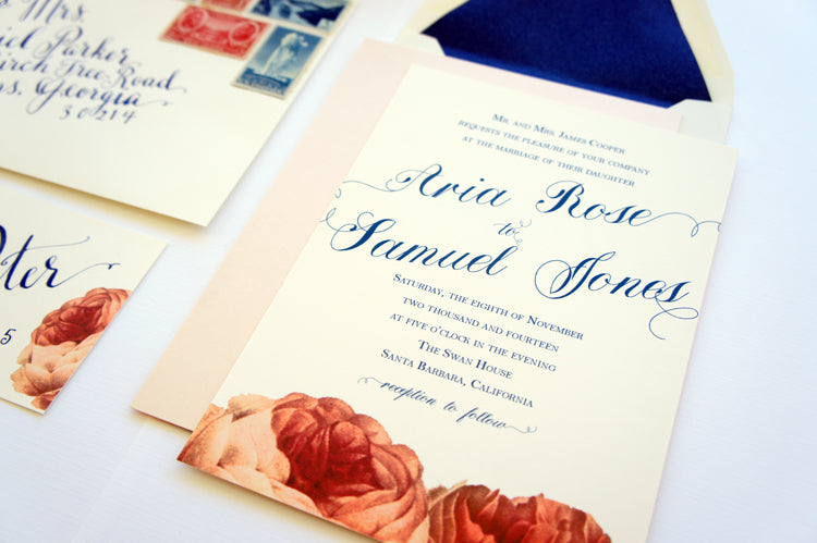 Custom Invitation Suite Rose