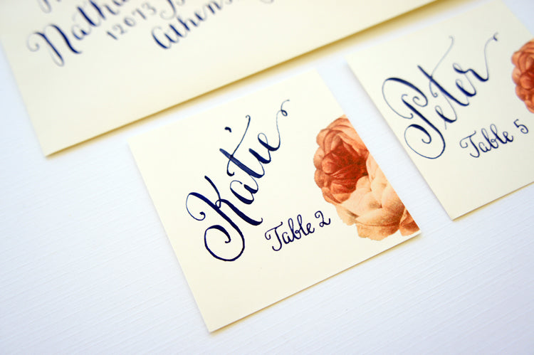 Santa Barbara Custom Place cards