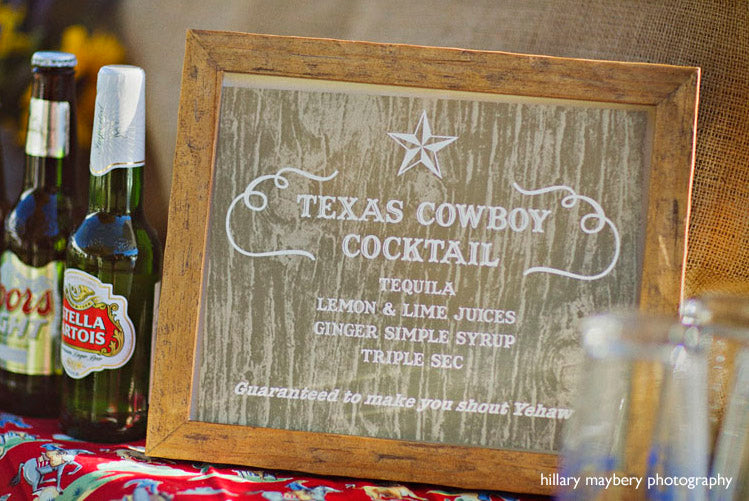 Texas cocktail drink Sign