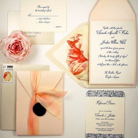 Rose Garden Invitation with wax seal