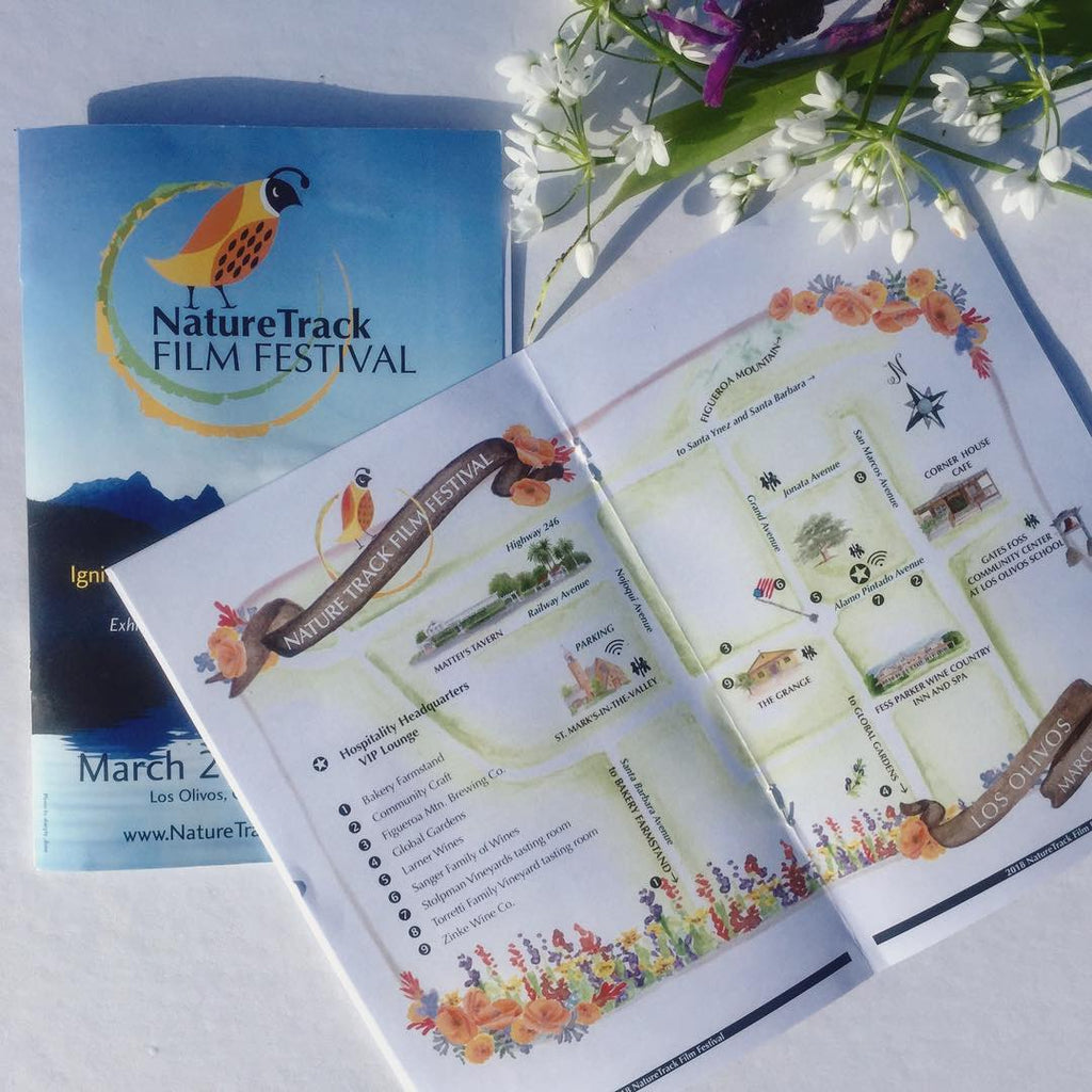 Nature Track Film Festival with custom map by Honey Paper