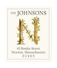Custom Address Stickers - Ivy A-Z