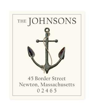 Custom Address Stickers - Anchor