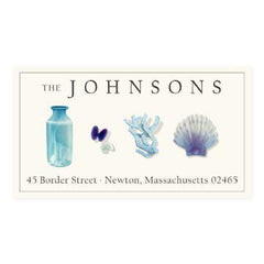 Custom Address Stickers - Ocean Blue