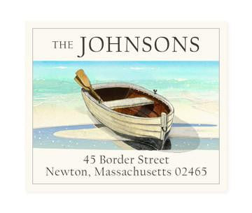 Custom Address Stickers - Resting Dingy