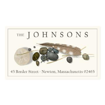 Custom Address Stickers - Feather and Stone