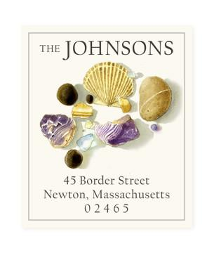 Custom Address Stickers - Vineyard Shells