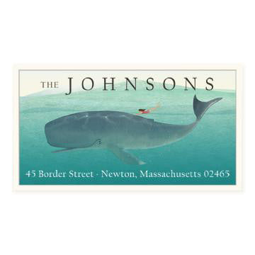 Custom Address Stickers - Whale Rider