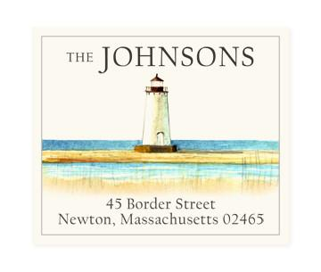 Custom Address Stickers - Lighthouse