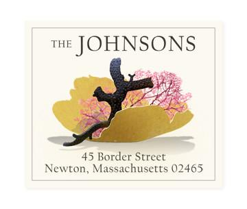 Custom Address Stickers - Yellow Fan Coral