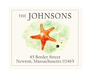 Custom Address Stickers - Red Star