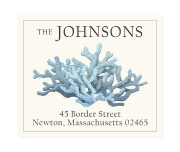 Custom Address Stickers - Light Blue