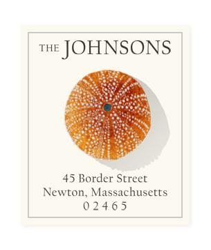 Custom Address Stickers - Red Urchin