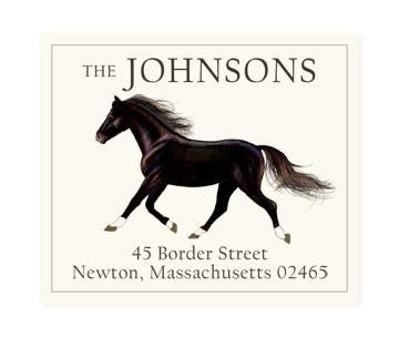 Custom Address Stickers - Black Stallion