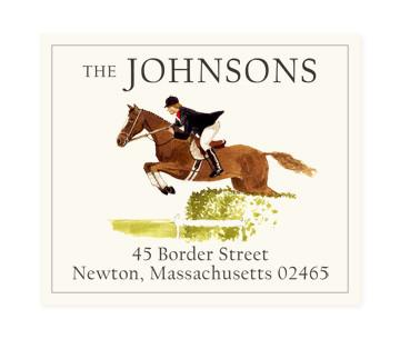 Custom Address Stickers - Horse Jumping