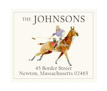 Custom Address Stickers - Polo Swing