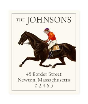 Custom Address Stickers - Race Horse One
