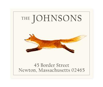 Custom Address Stickers - Running Fox (2 Styles Available)